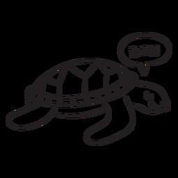 Esquema de tortugas marinas para dormir