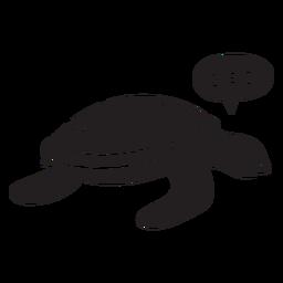 Tortuga marina durmiendo