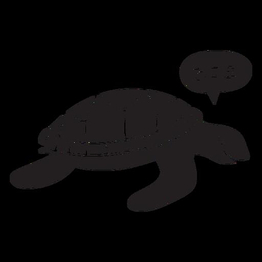 Tortuga marina durmiendo Transparent PNG