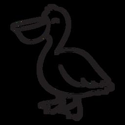 Esboço de pé pelicano sorridente