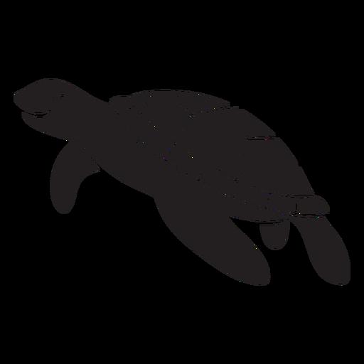 Smiling sea turtle swimming  Transparent PNG