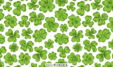 St patrick's clovers pattern design