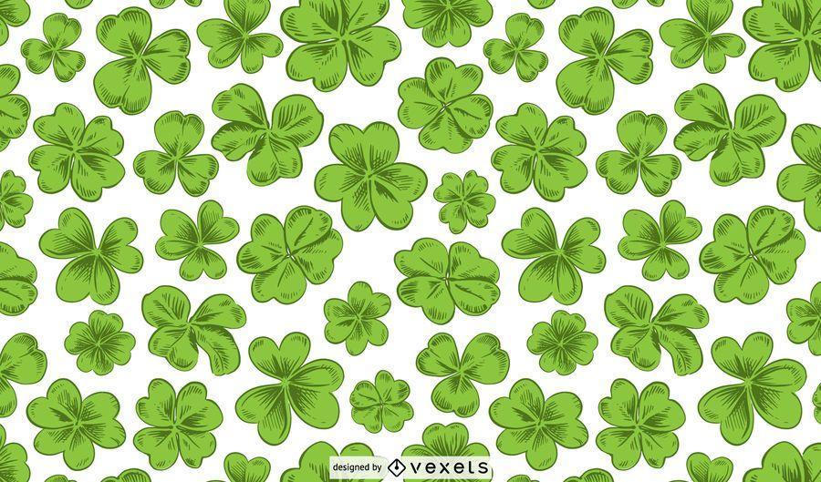 St patrick's clovers pattern design