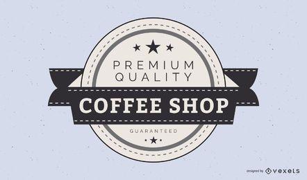 Modelo de logotipo de loja de café