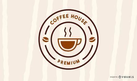 Modelo de logotipo de casa de café