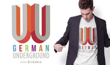 Diseño de camiseta de metro alemán
