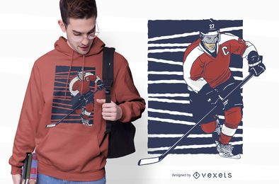 Ice Hockey Player T-shirt Design