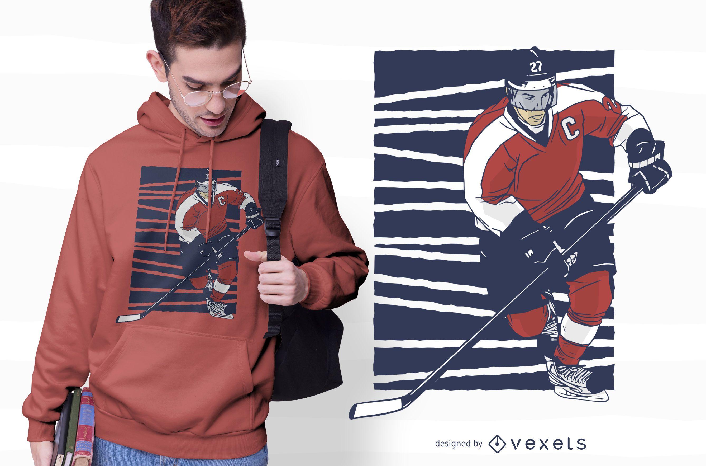 Diseño de camiseta de jugador de hockey sobre hielo