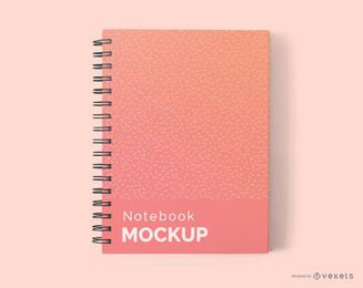 Diseño de maqueta de cuaderno gradiente