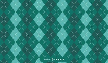 Diseño del patrón de Green Argyle St. Patrick