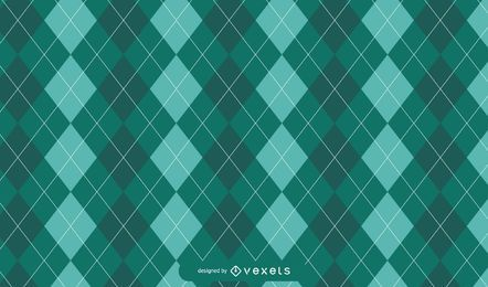 Green Argyle St. Patrick's Pattern Design