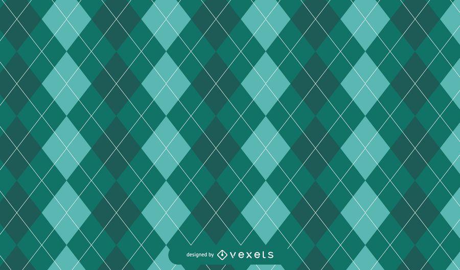 Green Argyle St. Patrick's Pattern Design