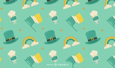 St. Patrick's Day Musterdesign