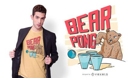 Bear pong t-shirt design