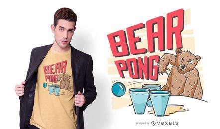 Design de camiseta de urso pong