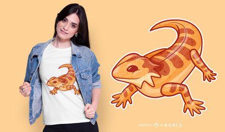Design de camiseta com dragão barbudo fofo