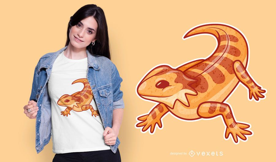 Cute Bearded Dragon T-shirt Design