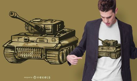 Design de camiseta de tanque Panzer