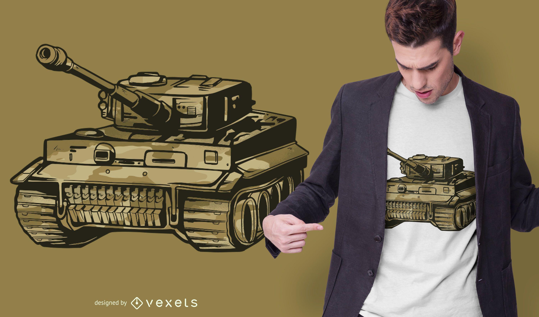 Panzer tank t-shirt design