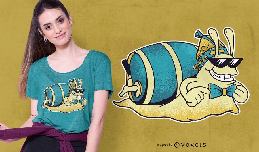 Bier Schnecke T-Shirt Design