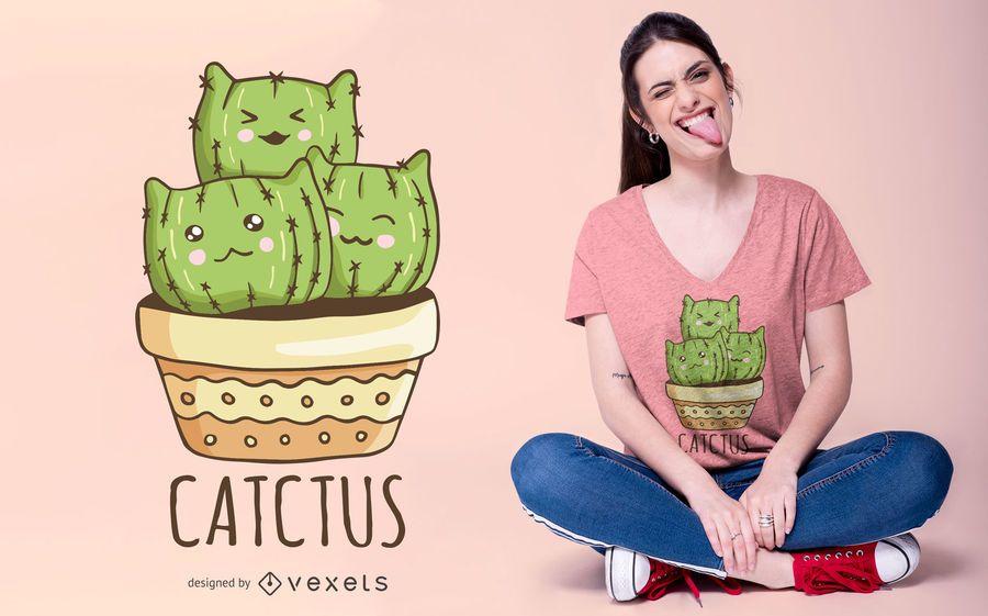 Design de t-shirt Catctus