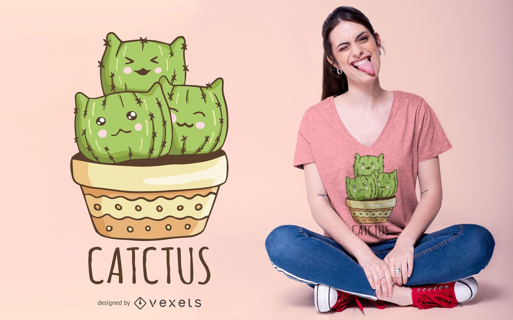 Design de camiseta Catctus
