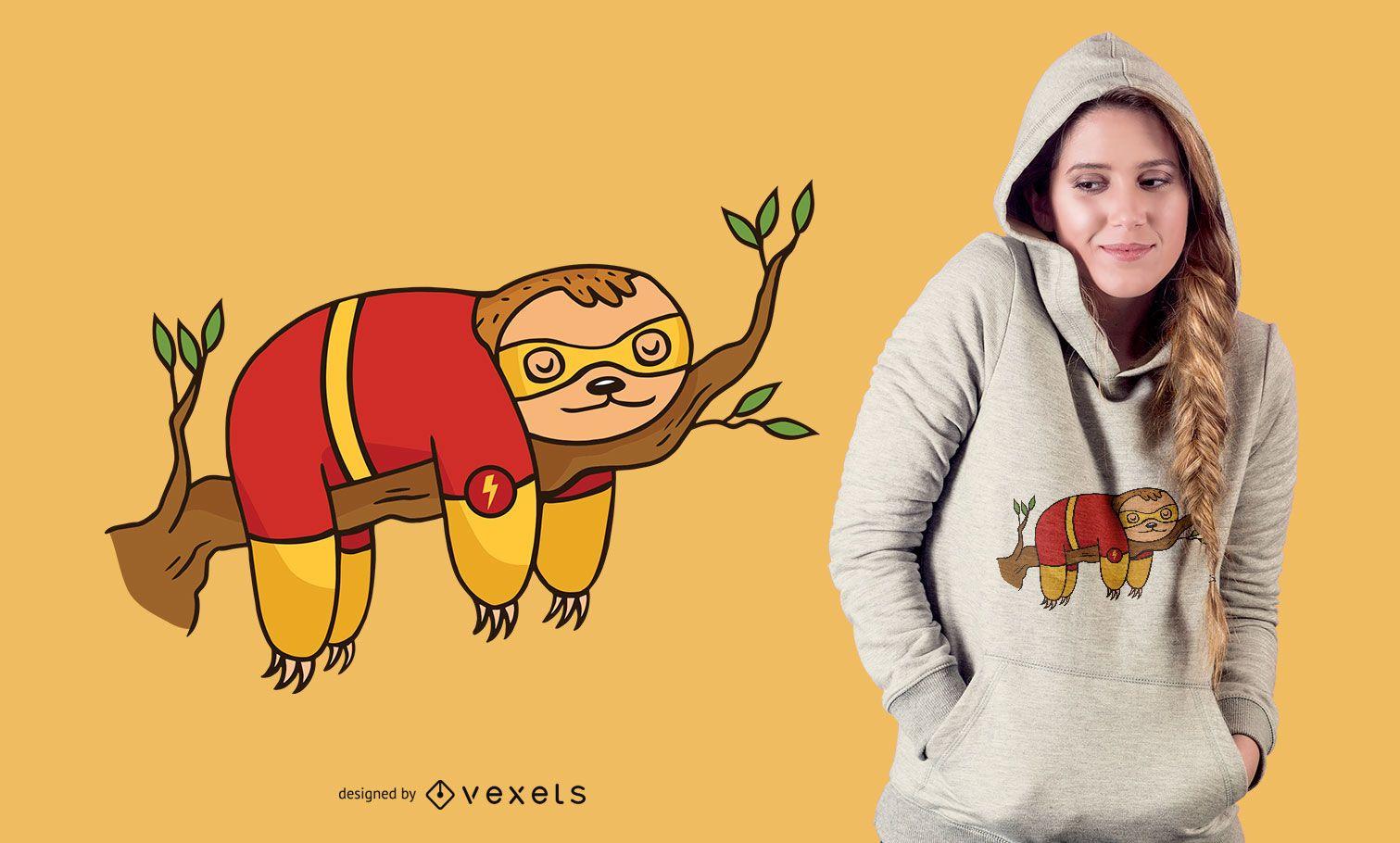Superhero sloth t-shirt design