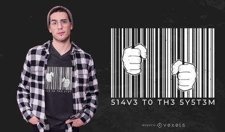 Barcode t-shirt design