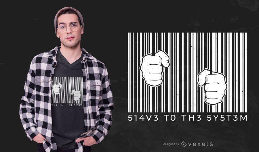 Barcode t-shirt design