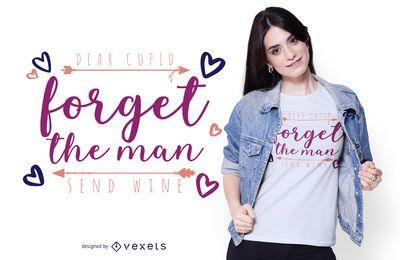 Diseño de camiseta querida cupido
