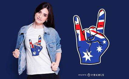 Australien-Rock auf T-Shirt Design