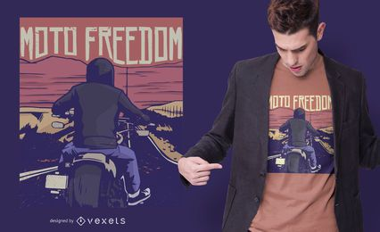 Motorbike freedom t-shirt design