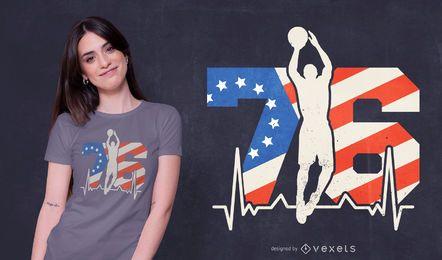 Design de t-shirt de basquete 76