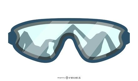 Mountain Skiing Goggles Design