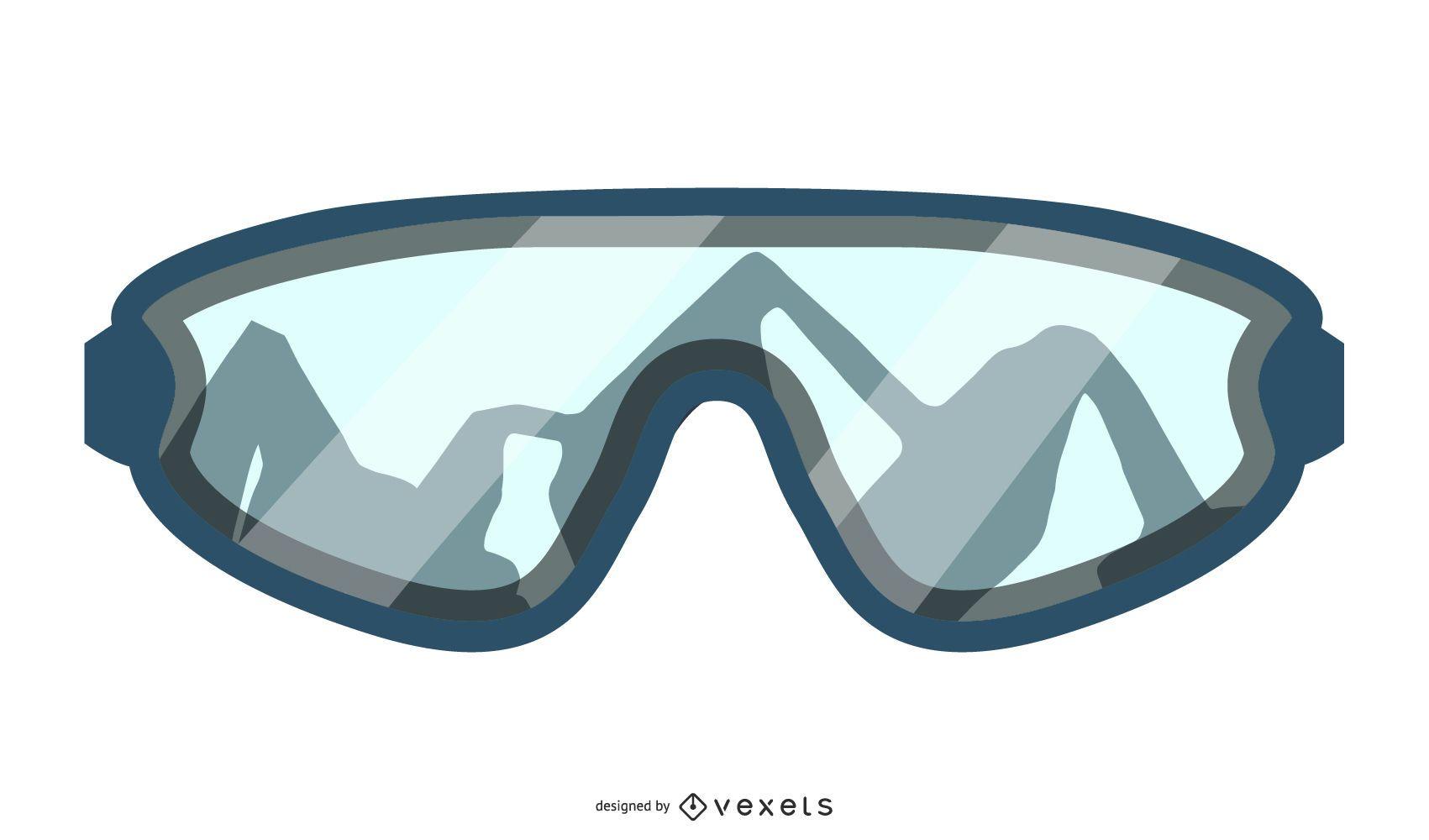 Diseño de gafas de esquí de montaña