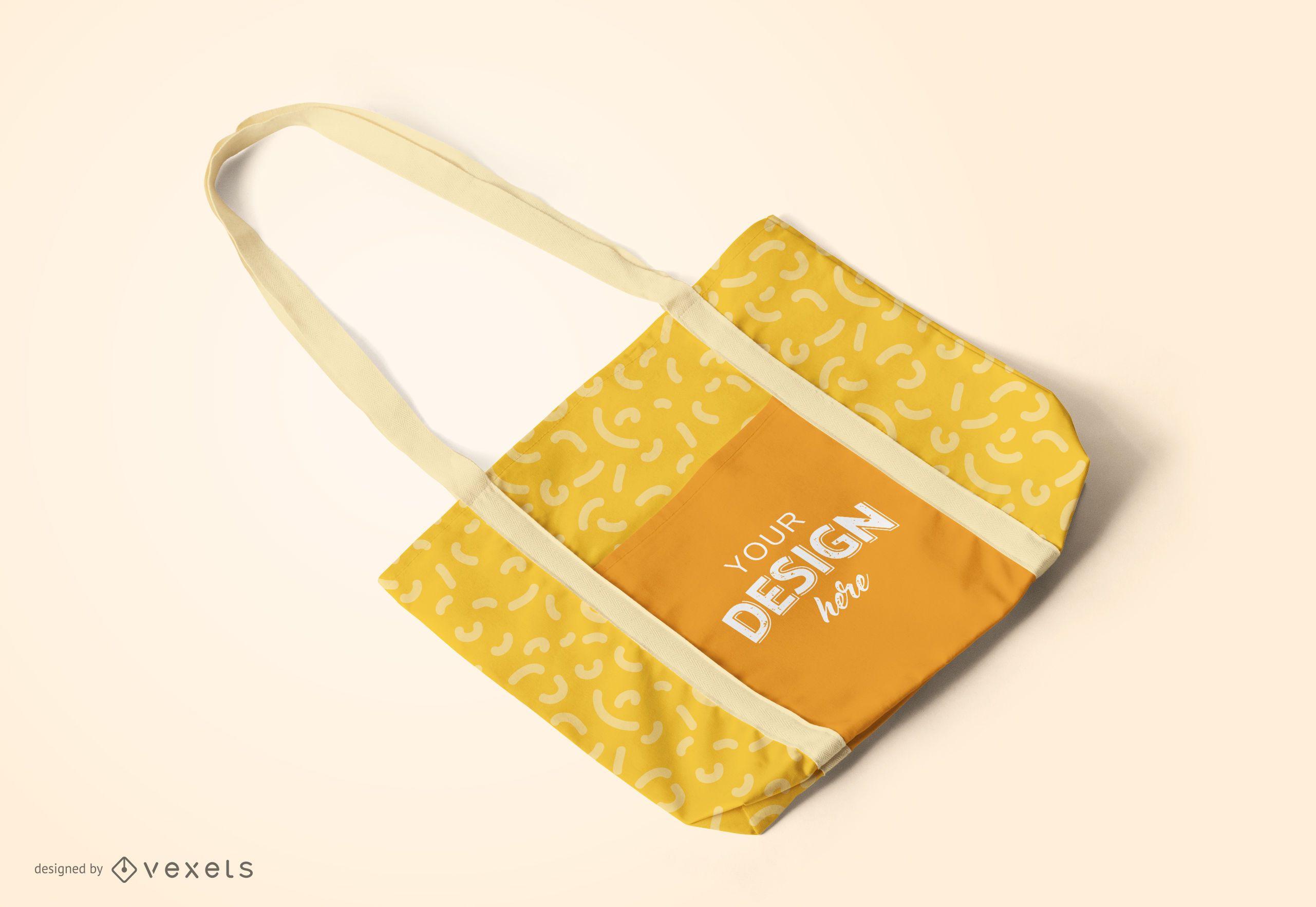 Diseño de maqueta de bolso de mano