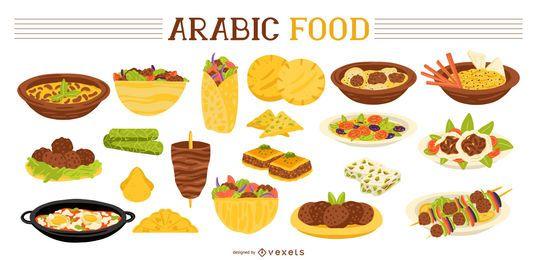 Coleção de comida árabe