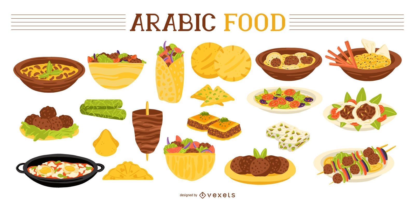 Arabische Lebensmittelsammlung