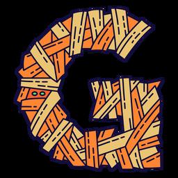 Colorido halloween letra g