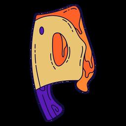 Letra de halloween colorido p