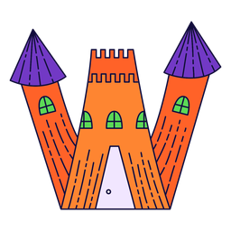 Colorful halloween letter w