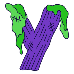 Colorful halloween letter y