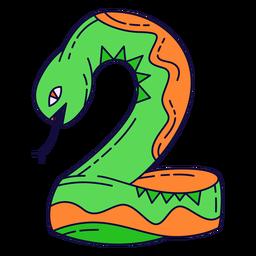 Número de halloween colorido 2