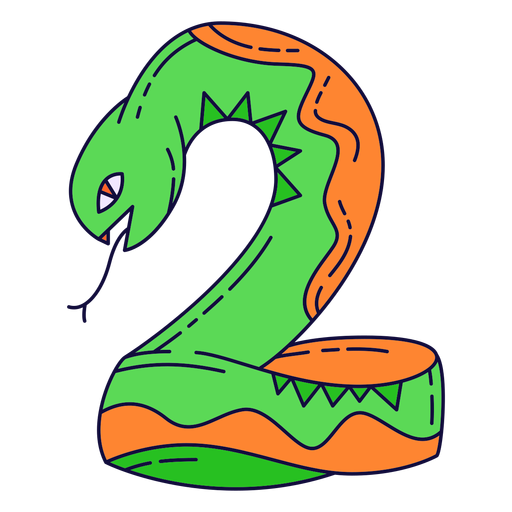 Colorful halloween number 2 Transparent PNG