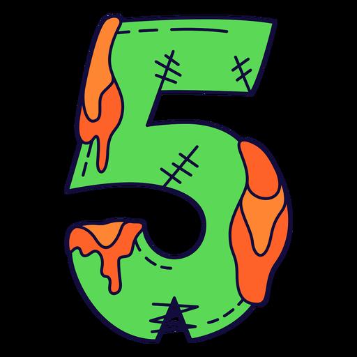 Dia das bruxas colorido número 5 Transparent PNG