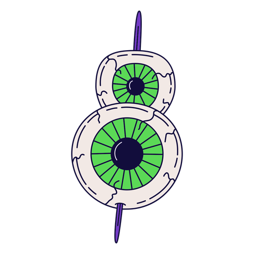 Colorful halloween number 8 Transparent PNG