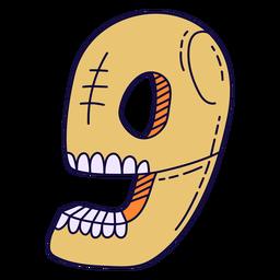 Número de halloween colorido 9
