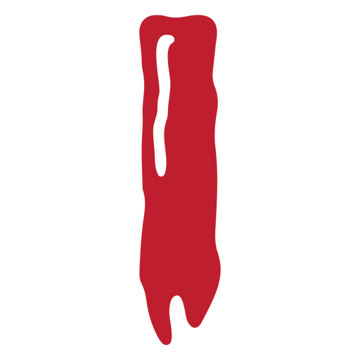 Halloween bloody letter i Transparent PNG
