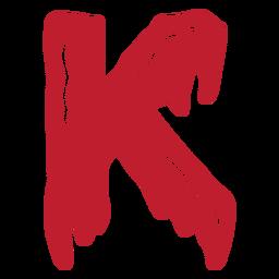 Halloween bloody letter k