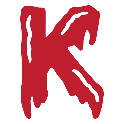 Halloween bloody letter k Transparent PNG